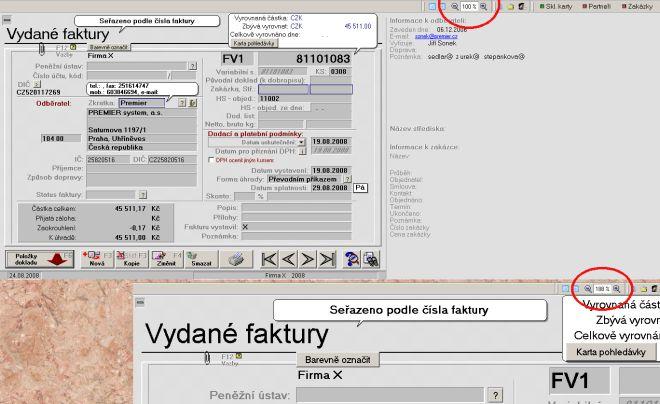 Datum skenování změněno datum splatnosti